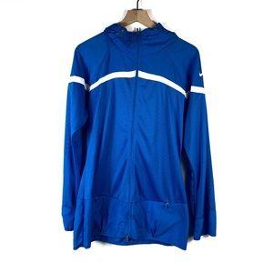 NIke Dri- Fit Blue Full Zip Mesh Jacket